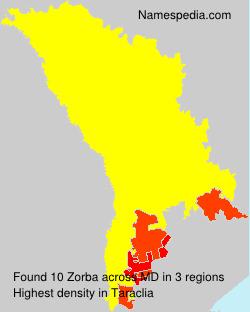 Familiennamen Zorba - Moldova