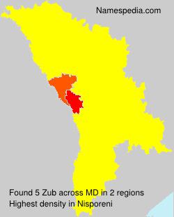 Surname Zub in Moldova