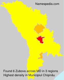 Familiennamen Zubova - Moldova