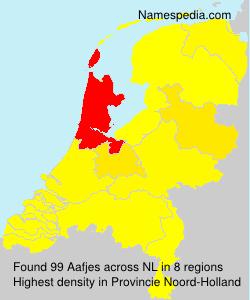 Familiennamen Aafjes - Netherlands