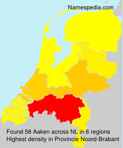Surname Aaken in Netherlands