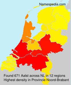 Surname Aalst in Netherlands