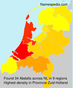 Surname Abdalla in Netherlands