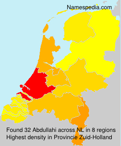 Familiennamen Abdullahi - Netherlands