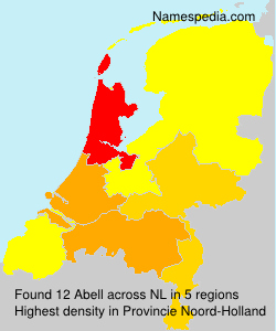 Surname Abell in Netherlands