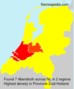 Surname Abendroth in Netherlands