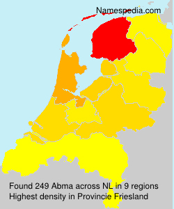 Familiennamen Abma - Netherlands