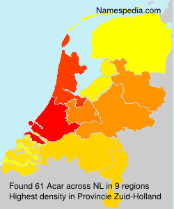 Surname Acar in Netherlands