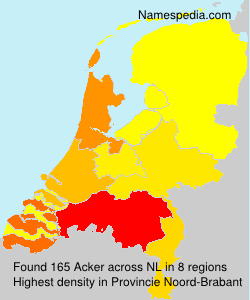 Surname Acker in Netherlands