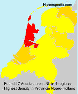 Surname Acosta in Netherlands