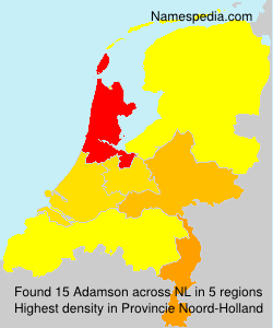 Surname Adamson in Netherlands