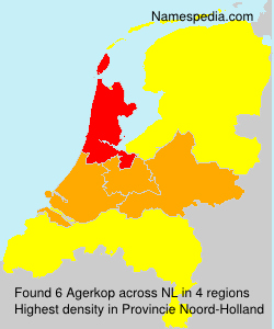 Surname Agerkop in Netherlands
