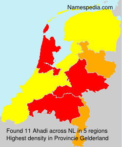 Surname Ahadi in Netherlands