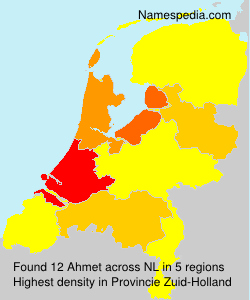 Surname Ahmet in Netherlands