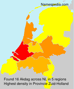 Surname Akdag in Netherlands