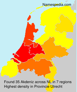 Surname Akdeniz in Netherlands