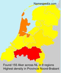 Familiennamen Aker - Netherlands