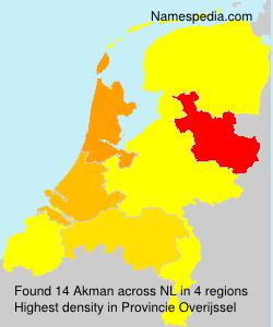 Surname Akman in Netherlands