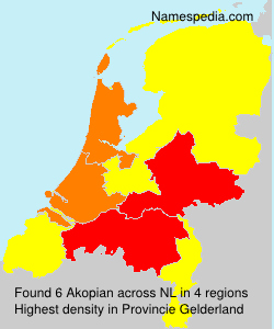 Surname Akopian in Netherlands