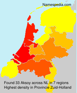 Surname Aksoy in Netherlands