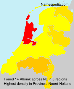Surname Albrink in Netherlands