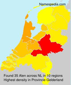 Surname Alen in Netherlands