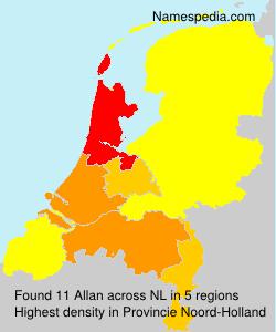 Surname Allan in Netherlands