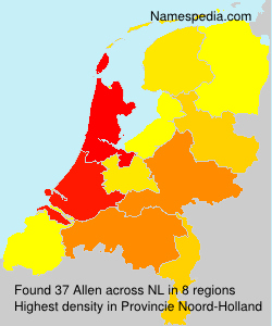 Surname Allen in Netherlands