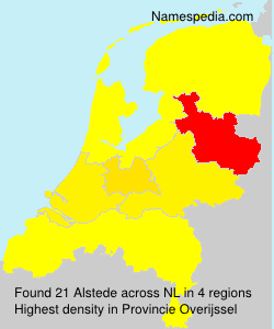 Surname Alstede in Netherlands