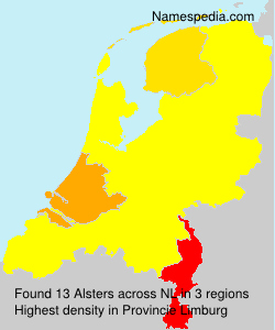 Surname Alsters in Netherlands