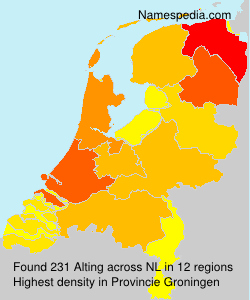 Surname Alting in Netherlands