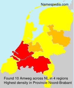 Surname Amweg in Netherlands