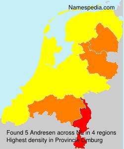 Familiennamen Andresen - Netherlands
