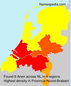 Surname Anen in Netherlands