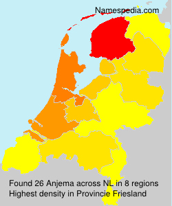 Surname Anjema in Netherlands