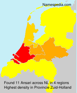 Familiennamen Ansari - Netherlands