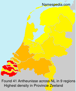 Surname Antheunisse in Netherlands