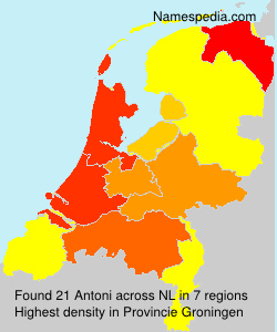Surname Antoni in Netherlands