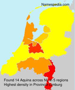 Surname Aquina in Netherlands