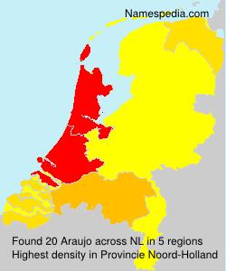 Familiennamen Araujo - Netherlands