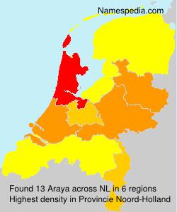 Surname Araya in Netherlands