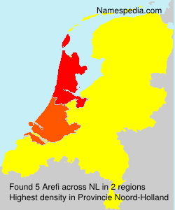Surname Arefi in Netherlands
