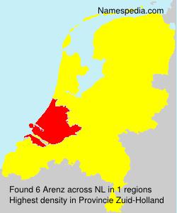 Surname Arenz in Netherlands