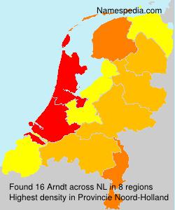 Surname Arndt in Netherlands