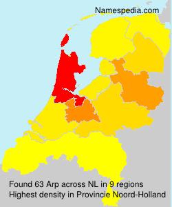 Familiennamen Arp - Netherlands