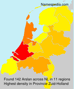 Surname Arslan in Netherlands