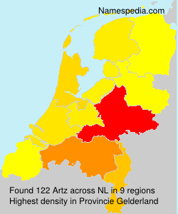 Surname Artz in Netherlands