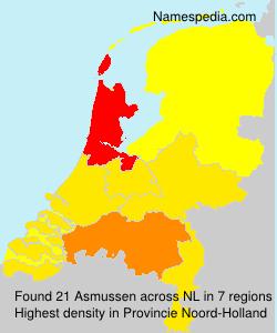 Familiennamen Asmussen - Netherlands