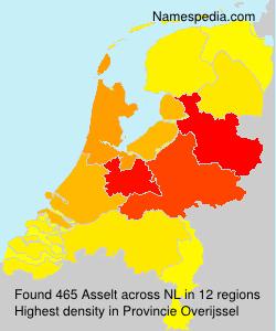 Familiennamen Asselt - Netherlands