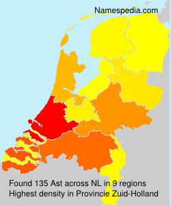 Surname Ast in Netherlands